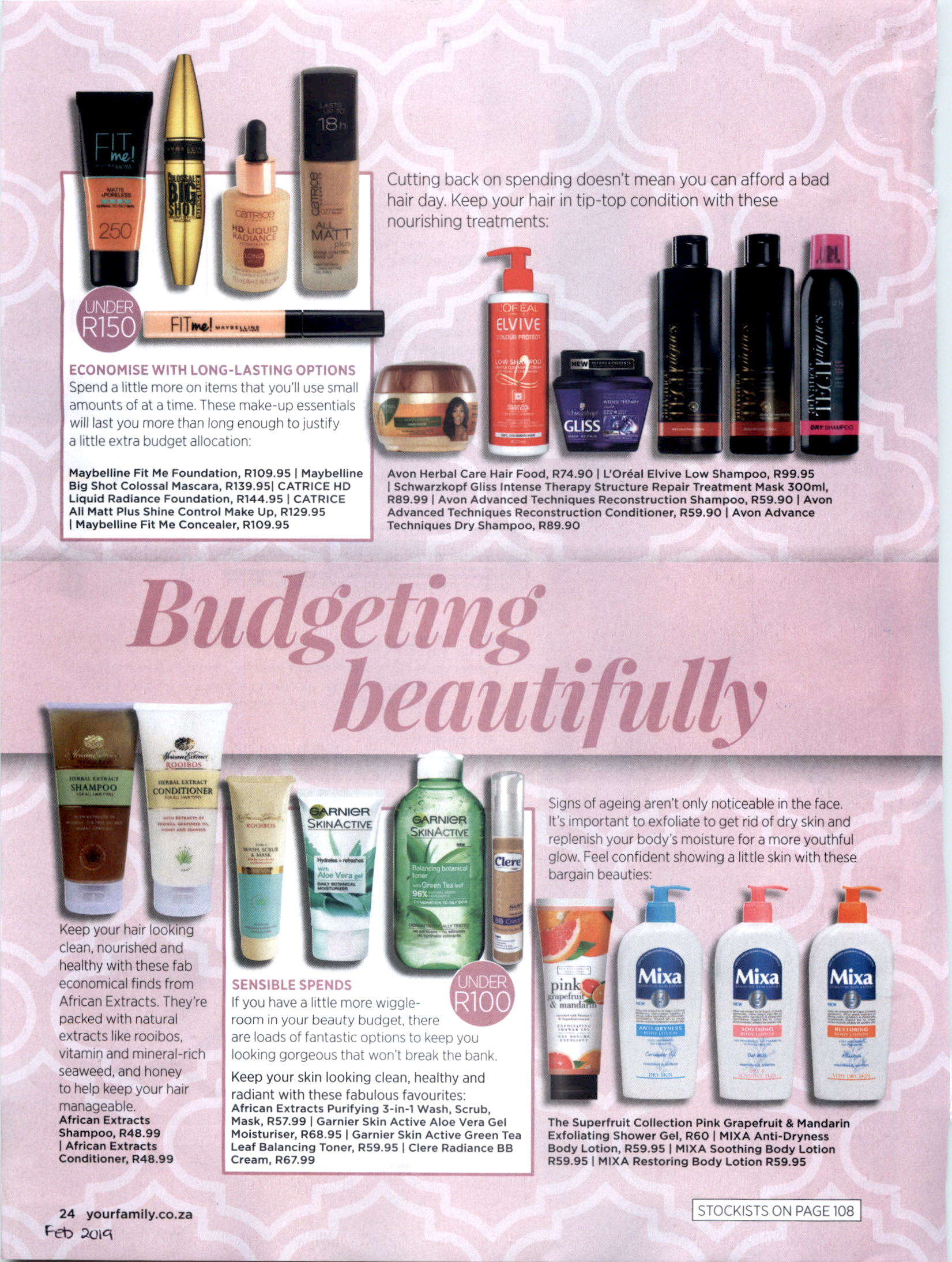 The Cape Town Toiletry Company - The Superfruit Collection - Your Family pg24 - Feb 2019